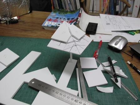 柱脚の模型2