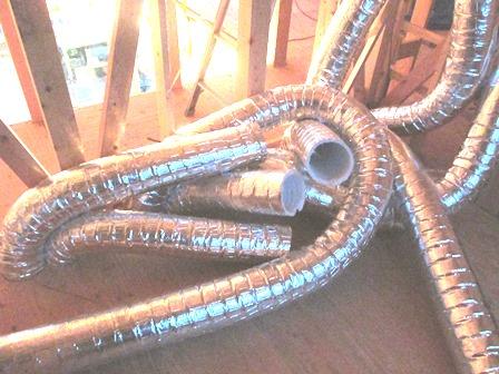 全館空調の配管